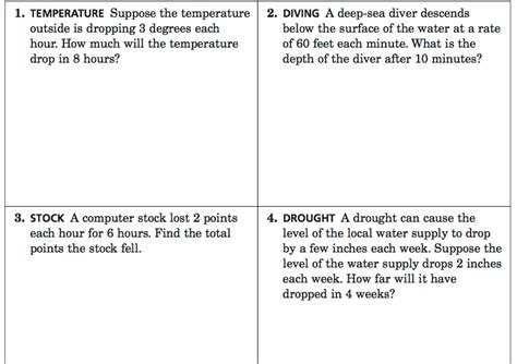 Integer Word Problems Worksheet by Integer Multiplication Word Problems Boxfirepress