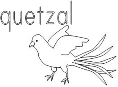 Quetzal Colouring Images Quetzal Coloring Page