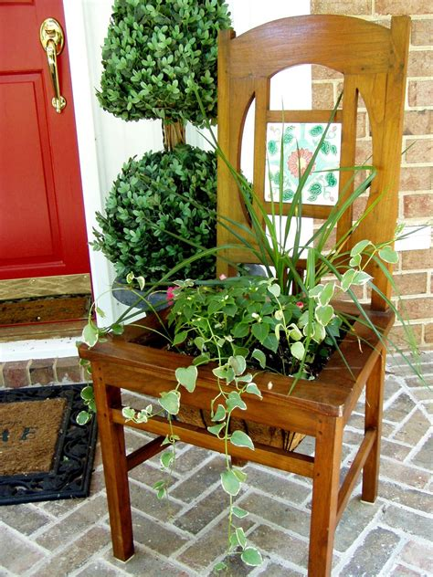 planters chair make a planter from an chair