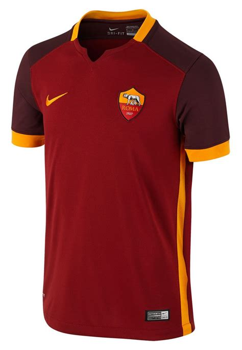 Jersey As Roma Home 3 nike as roma home jersey 2015 16 football shop