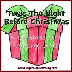 twas the night before christmas family night layers of