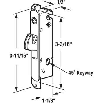 sliding door parts faceplate repair e 2014 mortise lock 3 11 16 inch mounting holes steel