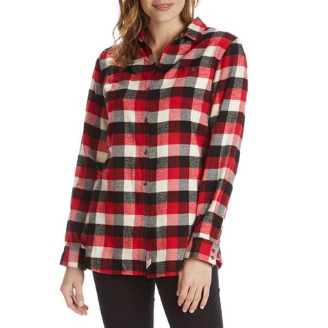 check vs plaid woolrich pemberton boyfriend flannel shirt women s evo