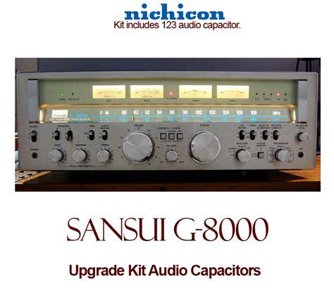 capacitor upgrade sansui g 8000 upgrade kit audio capacitors