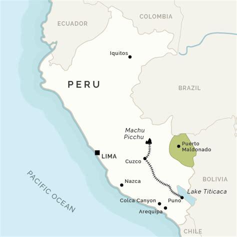 map of peru cusco cuzco to machu picchu and cusco hotels and tours