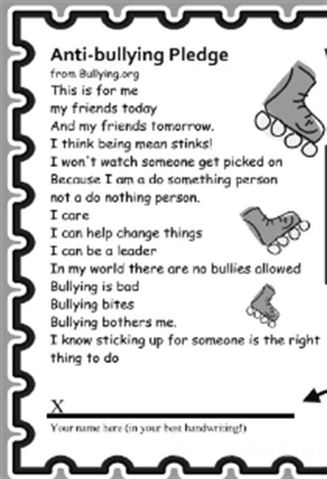 Skateland Chandler January 2011 Anti Bullying Contract Template