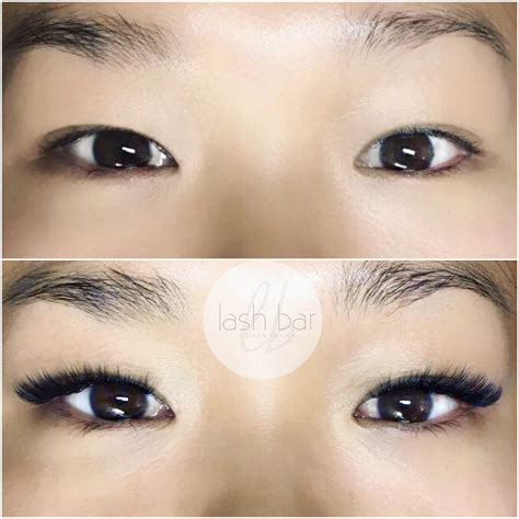women in 60s with eyelash extensions asian eyes volume lashes at lash bar copenhagen lashes