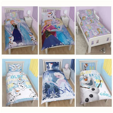 Frozen Crib Bedding Disney Frozen Duvet Quilt Covers Bedding Elsa Olaf Ebay
