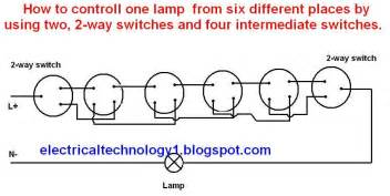 wiring diagram of one lamp controlled by two switches images