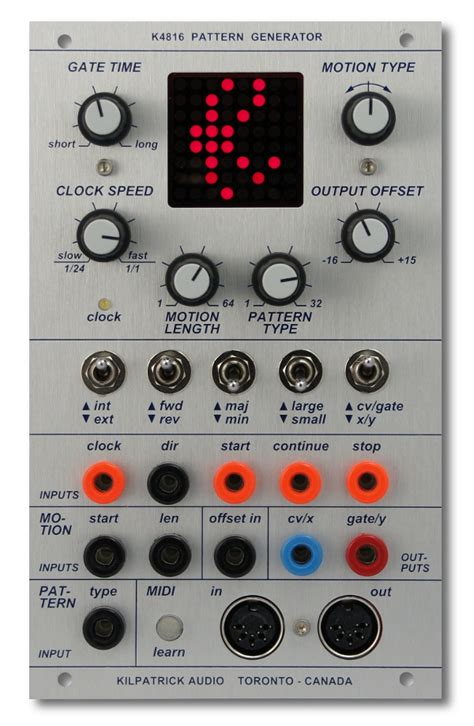 pattern generator what is kilpatrick audio k4816 pattern generator