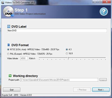 format dvd si yapma programi brezplačni programi za izdelavo dvd vsebin