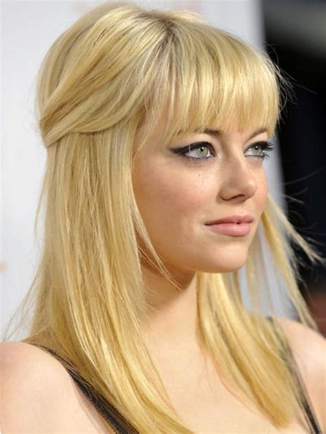 down hairstyles blonde wedding bangs hairstyle with blonde hair color styloss com