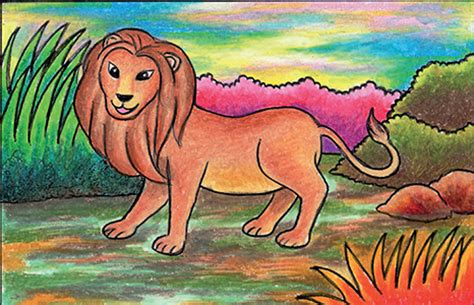 tutorial gambar singa cara mudah menggambar singa cikal aksara
