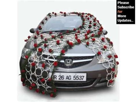 Wedding Car Flower Design by Wedding Car Decoration Back Decor Pictures Ideas For