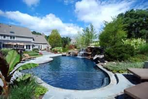 Backyard Pools Nj Backyard Swimming Pools Waterfalls Landscaping Nj