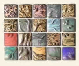 Art Nouveau Upholstery Fabric Handmade Ceramic Decorative Tile