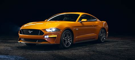 2018 Mustang Side View by 2018 Ford Mustang Orange Fury Front Side View O Kovatch Ford