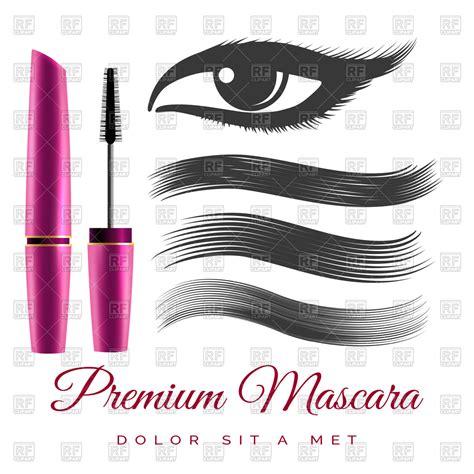 mascara clipart black mascara with eye royalty free vector clip