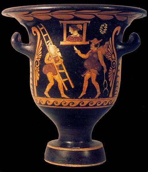 Zeus Vase Zeus Ladder Hermes Beloved In Square Comic Greek Vase S