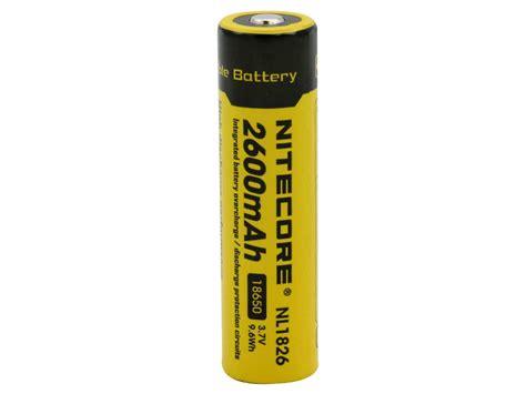 Nitecore 18650 Baterai Li Ion 2600mah 3 7v Nl1826 Promo nitecore nl1826 18650 2600mah 3 7v protected lithium ion li ion button top battery blister pack