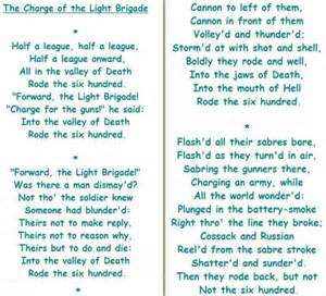 tennyson and the charge of the light brigade poetry