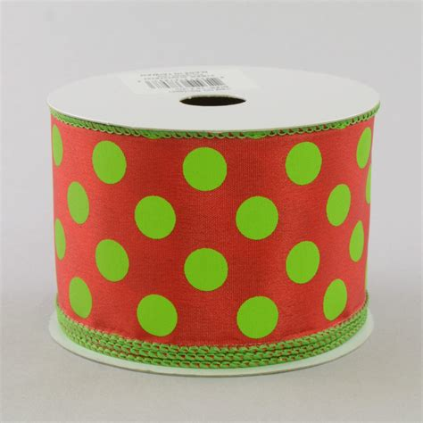 2 5 quot polka dot ribbon red lime green rg15893y