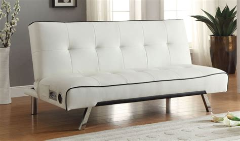 coaster 500138 sofa bed white 500138 at homelement