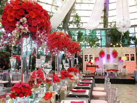 red themed events a dramatic red and silver themed wedding glass garden