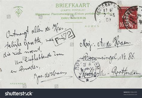 Netherlands Address Lookup The Netherlands Circa 1908 Vintage Postcard With Address