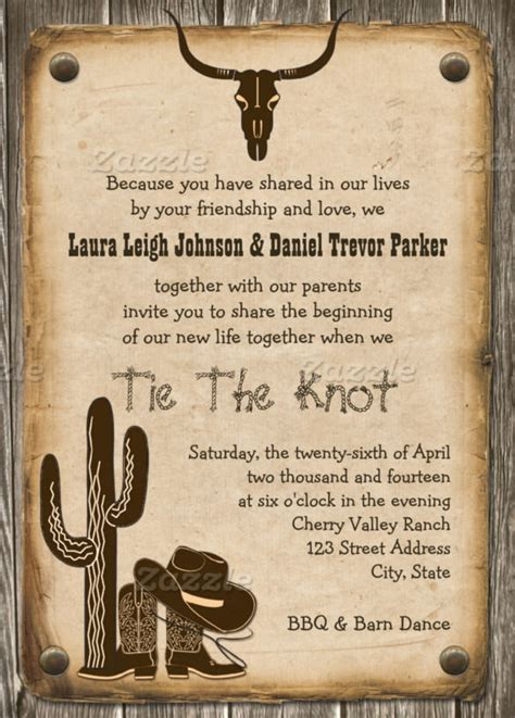 cowboy invitation template 25 best cowboy invitations