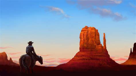 artwork wild west wallpaper