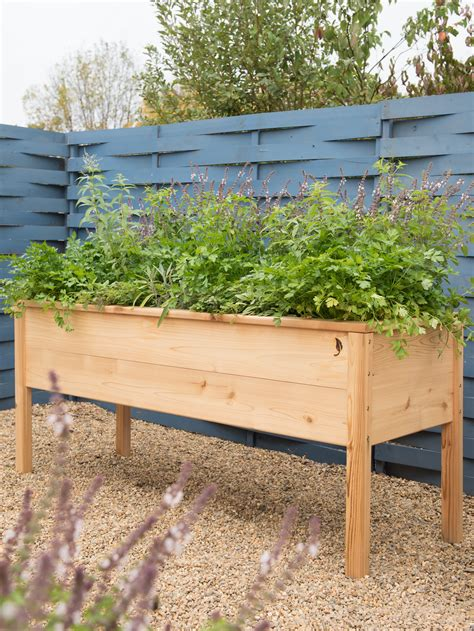 cedarlast elevated planter box    gardeners supply