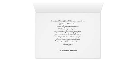 Thank You Letter Christian Christian Sympathy Thank You Note Card Zazzle
