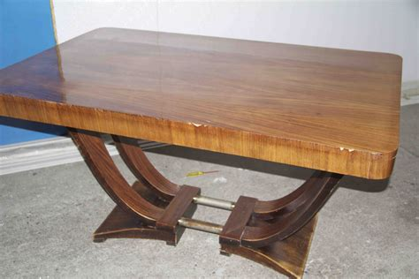 art deco table ls table 224 rallonges art deco en palissandre de rio dinning