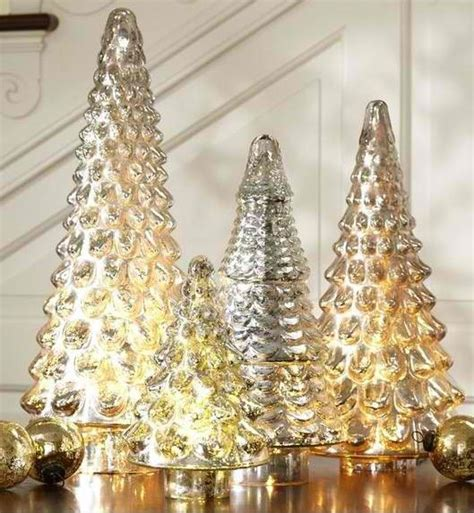 mercury glass christmas trees christmas pinterest