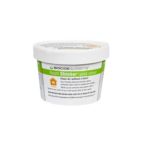 room shocker home depot biocide systems fresheners room shocker 11g chlorine dioxide o
