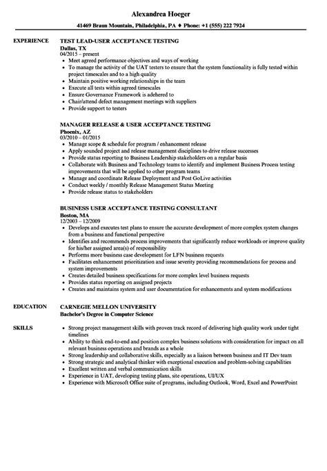 User Acceptance Tester Sle Resume by User Acceptance Testing Resume Sles Velvet