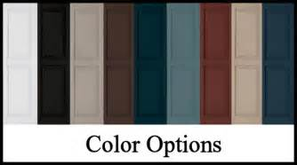 shutter colors decorative exterior vinyl shutters color choices hooks