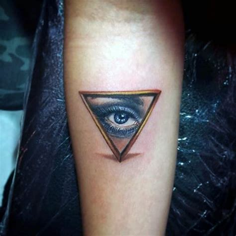 eye tattoo for man 90 triangle tattoo designs for men manly ink ideas