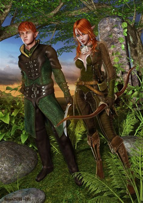 wood elf pattern male and female elf costumes mythical creatures