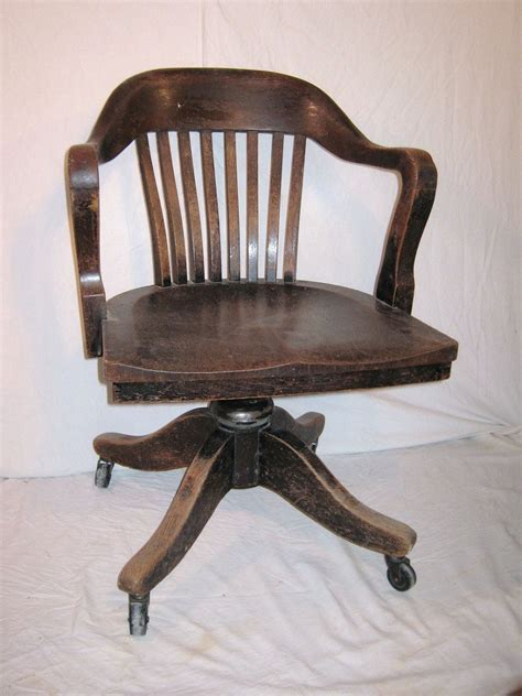 antique bankers chair repair bankers chair vintage heavy wood from 1930 or 40s office