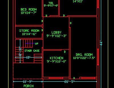 house space planning  ground floor plan dwg