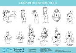 Desk Stretches At The Office Workplace Health
