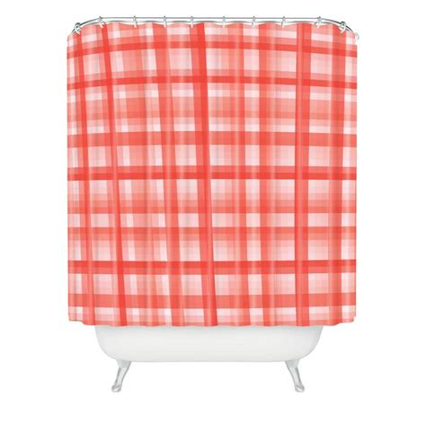 red plaid shower curtain lisa argyropoulos country plaid vintage red shower curtain