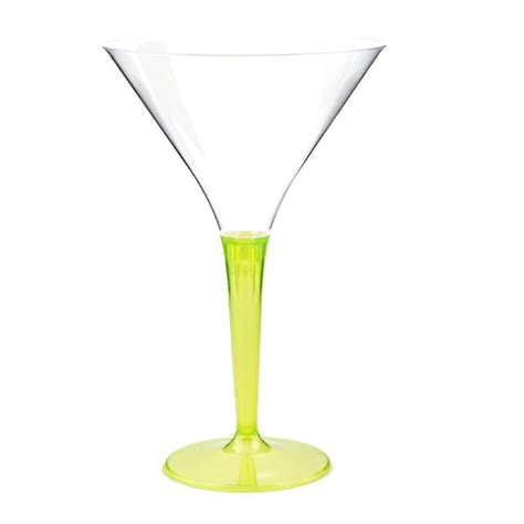 Stem Cocktail Glasses Mozaik Coloured Stem Plastic Cocktail Glasses Green 70ml 6