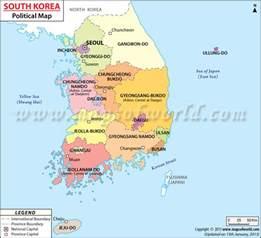 South Korea World Map by General Info South Korea