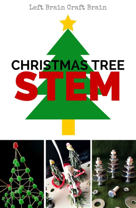 christmas algebra projects tree stem activities left brain craft brain