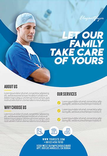 Free Health Care Flyer Templates Psd By Elegantflyer Health Care Flyer Template Free