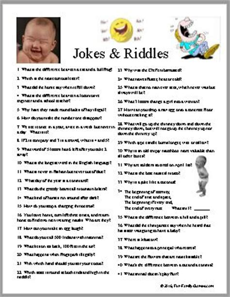 printable games online jokes and riddles to give you a few laughs today