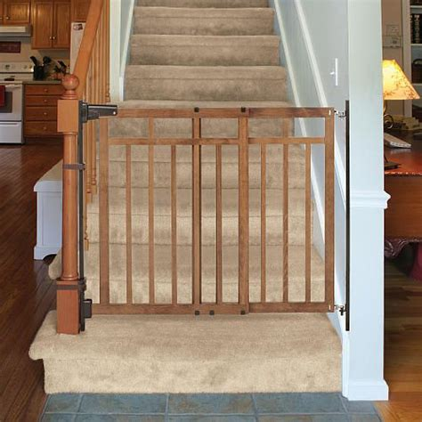 banister to banister baby gate summer infant 32 48 inch banister and stair gate with dual